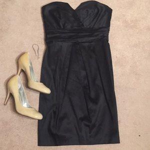 WHBM black strapless party dress size 4